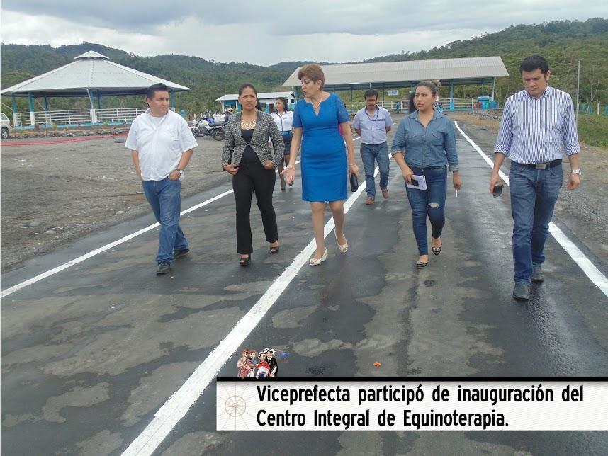 VICEPREFECTA PARTICIPÓ DE INAUGURACIÓN DEL CENTRO INTEGRAL DE EQUINOTERAPIA