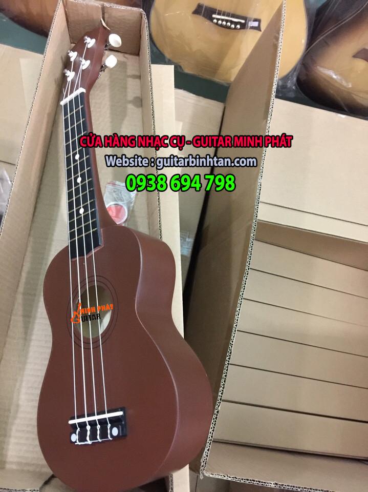 Đàn ukulele màu cafe