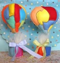 Photo: Μπομπονιέρες Μεγάλα Αερόστατα. Διαστάσεις Μπαλονιού 10 x 9 εκατοστά περίπου. Οι διαστάσεις από το μπαλόνι μέχρι και το καλαθάκι είναι 17 x 9 εκατοστά περίπου.
