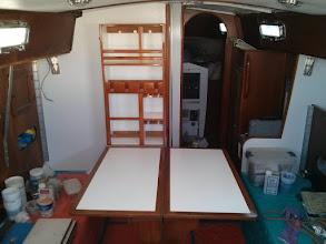 Photo: salon table fully deployed