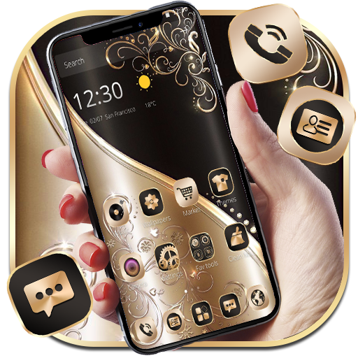 Golden Black Luxury Theme Android APK Download Free By Fantastic Design