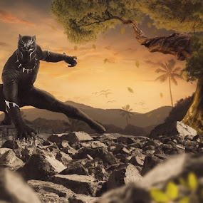 Black Panther by Iwan Setiawan - Digital Art Animals