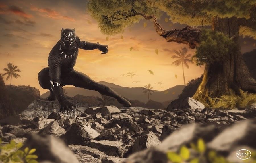 Black Panther by Iwan Setiawan - Digital Art Animals