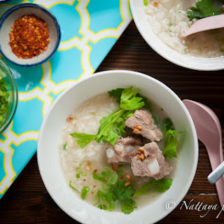 Comforting Pork Ribs and Rice Soup.