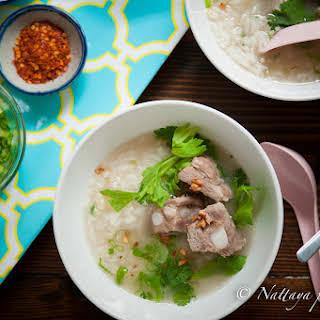 Comforting Pork Ribs and Rice Soup.