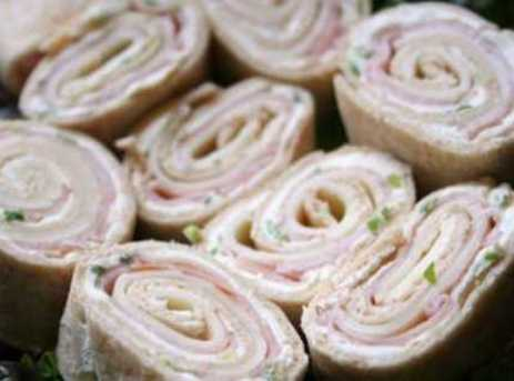 Meat And Cheese Tortilla Pinwheels Recipe