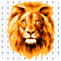 Lion Color By Number - Pixel Art icon