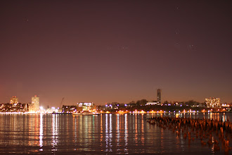 Photo: The Hudson River and Jersey City after dusk.