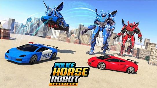US Police Horse Robot Car Transform Robot Games 5