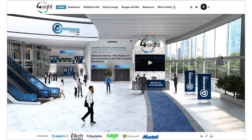 The lobby of the Converge Summit 2020 Virtual Event.