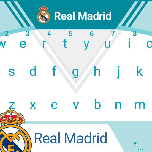 Real Madrid Minty White Keyboard Theme