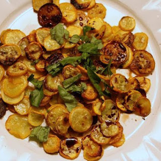 Squash Coins with Balsamic and Basil