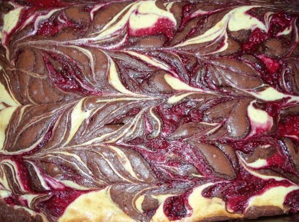 Raspberry Zebra Brownies Recipe