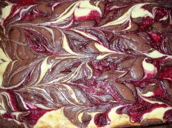 Raspberry Zebra Brownies