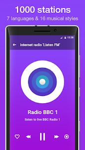 """Internet radio """"Listen FM"""" 2.3 MOD + APK + DATA Download 1"""