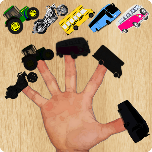 Vehicles Finger Family Puzzle Game