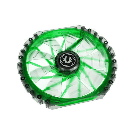 Bitfenix vifte m/grønn LED, Spectre PRO, 230x30