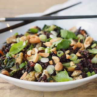 Fried Black Rice with Bok Choy