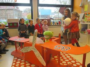 Photo: een heus vliegtuig in onze klas waaaaaw!!