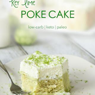 Keto Key Lime Poke Cake