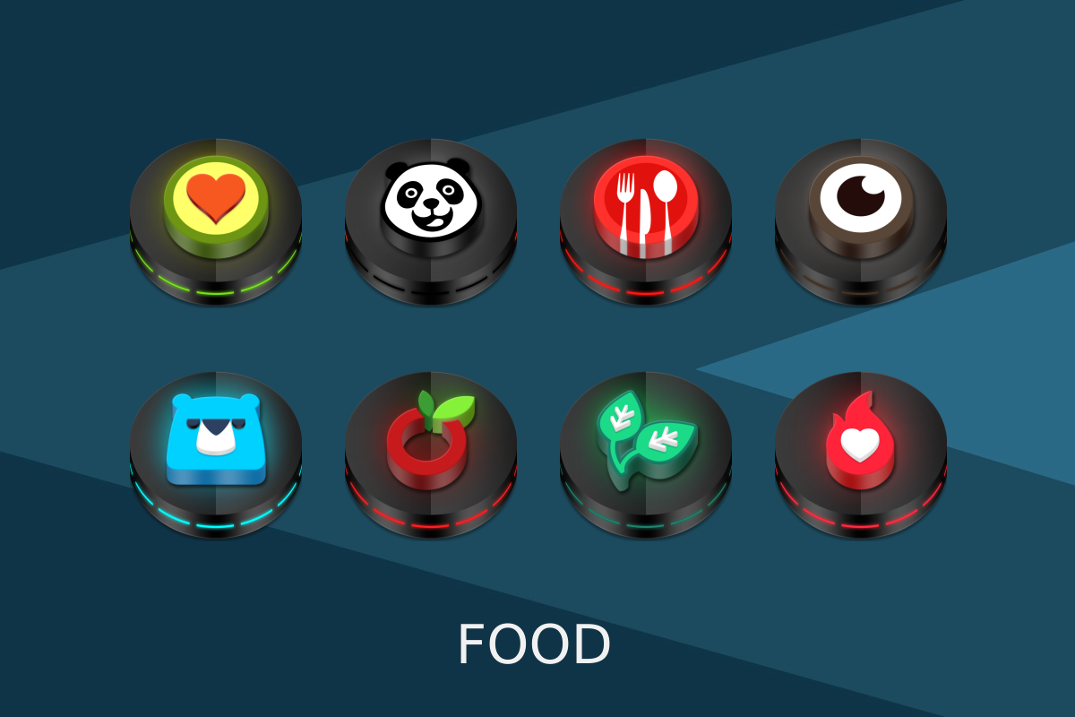 Neon 3D icon Pack APK Download