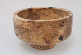 "Photo: Phil Brown - 11"" x 6 5/8"" salad bowl [pig nut hickory]"