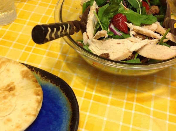 Strawberry & Candied Pecan Salad With Chicken Recipe