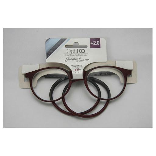 lentes de lectura magnético optiko marrón +2.00