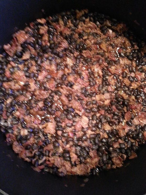 Add beans; mix well and reduce heat to medium.  Cook, covered, 8 -10...