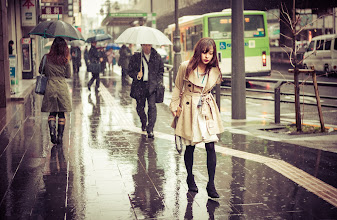Photo: Rainy Sadness  I found the only person in Tokyo without an umbrella... so sad she was! :(