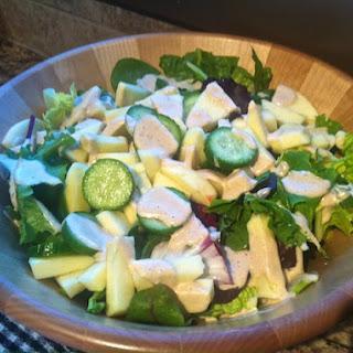 Asian Tahini Apple Cucumber Salad.