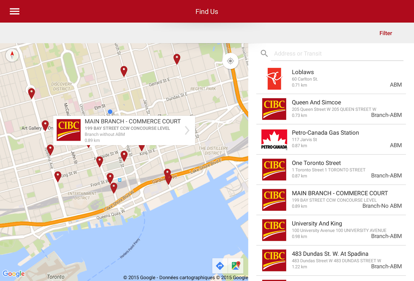 CIBC Mobile Banking®- screenshot