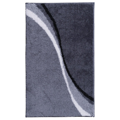 Коврик для ванной комнаты Ridder Barney серый 100х60 см