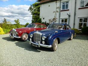 Photo: A fine brace of Bentley Continentals