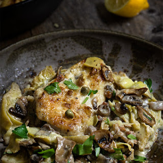 Chicken Scallopini With Mushrooms And Artichokes