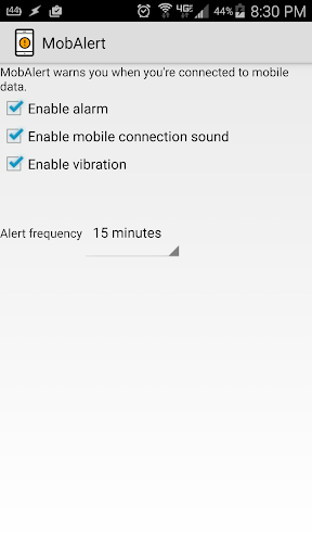 MobAlert: WiFi disabled alert