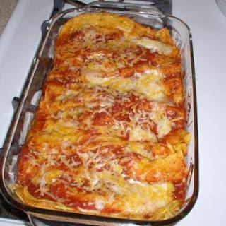Leftover Thanksgiving Turkey Enchiladas.