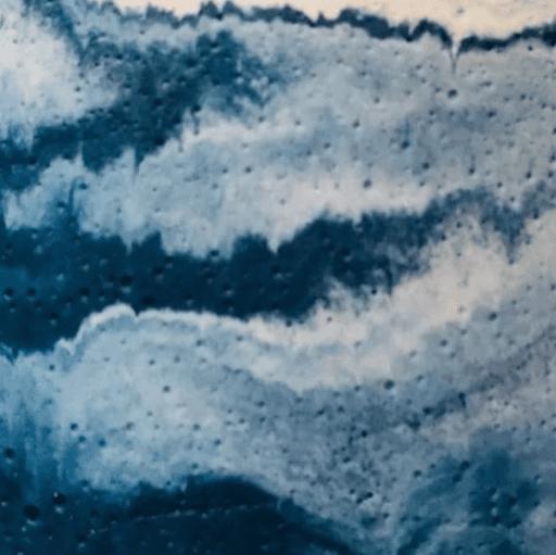 béton marbré bleu pétrole