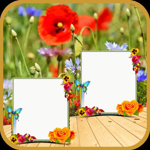 Nature Dual Frames: Photo Editor & Wallpaper Maker Icon