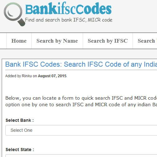 IFSC Code Finder