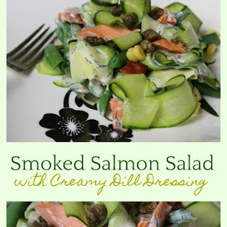 Smoked Salmon Salad with Creamy Dill Dressing Recipe
