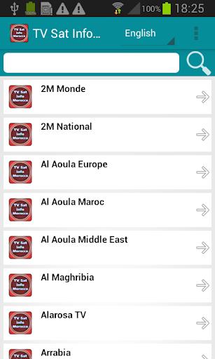 テレビ衛星情報モロッコ