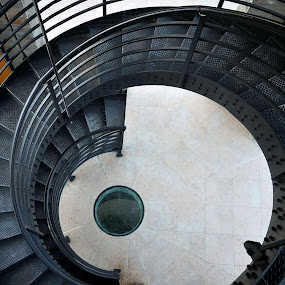 Spiral staircase by Ivelina Angelova - Buildings & Architecture Architectural Detail ( ring, detail, spiral, steps, circle, bell, tower, stairs, arhitecture, window, metal, staircase, glass, buildings, bulgaria )