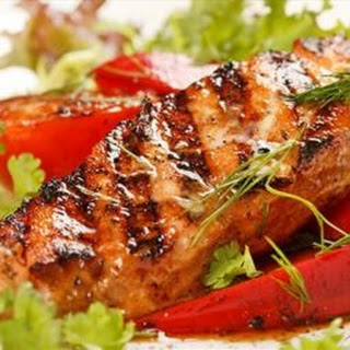 Grilled Fish with Brazilian Garlic Marinade.