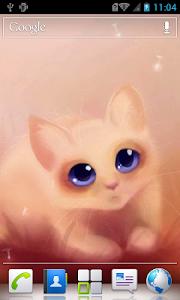 Cute kitty Live Wallpaper screenshot 2