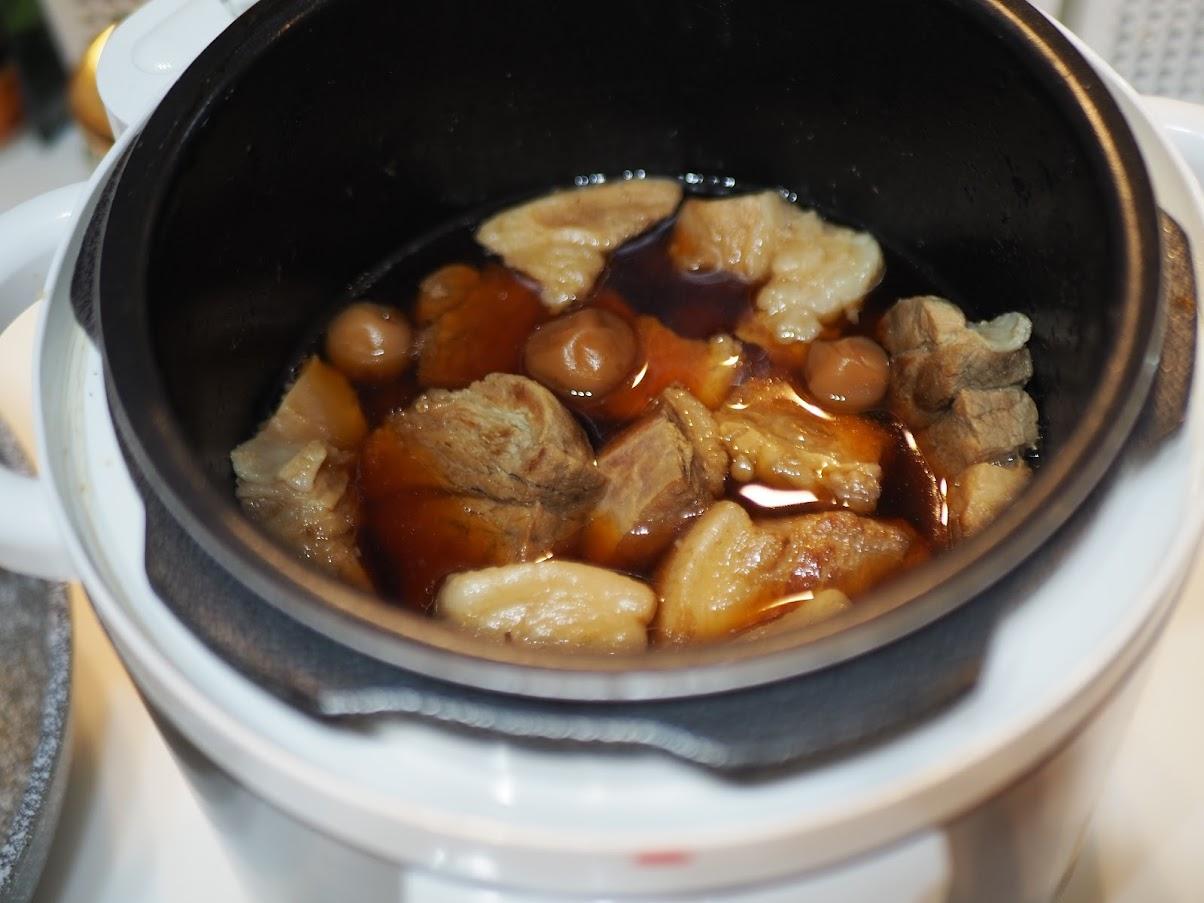 豚の角煮 梅干し ほったらかしレシピ