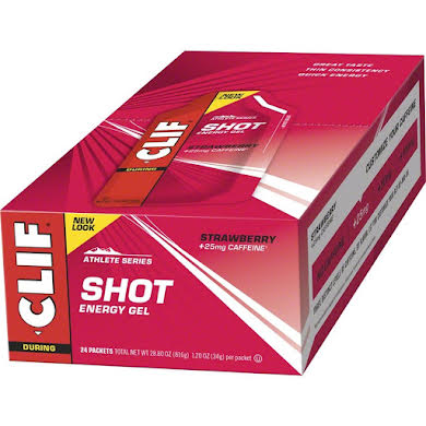 Clif Bar Clif Shot Energy Gel - Strawberry with Caffeine (24-pack)
