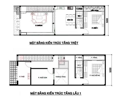 mẫu nhà đẹp 2 tầng 5x15 2