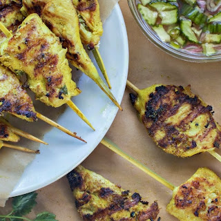 Chicken Satay with Reduced Sugar Hot Pepper + Almond Butter Sauces