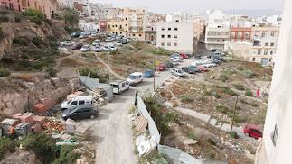 Vista de la zona sobre la que se hará la calle Pósito